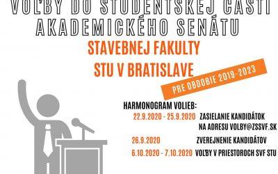 DOPLŇUJÚCE voľby do študentskej časti akademického senátu Stavebnej fakulty STU v Bratislave